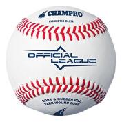 Champro 12 Official League Baseballs - Full Grain Leather Cover