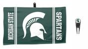 NCAA Michigan State Spartans Golf Ball Mark Repair Tool & 36cm x 60cm Waffle Towel Set by WinCraft