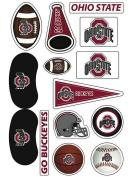 Ohio State University (OSU) Buckeyes Waterless Peel & Stick Temporary Tattoo Assortment Pack 14-Piece