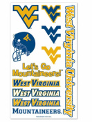 West Virginia Mountaineers Wincraft Yellow and Blue Temporary Tattoo Sheet