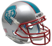 NCAA New Mexico Lobos Teal Mini Helmet, One Size, White