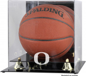 Oregon Ducks Golden Classic Logo Basketball Display Case with Mirror Back - Fanatics Authentic Certified