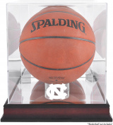 North Carolina (UNC) Tar Heels Mahogany Antique Finish (2015-Present Logo) Basketball Display Case with Mirror Back - Fanatics Authentic Certified