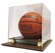 Max Protection Executive Leather Style Base Basketball Display Case