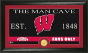 NCAA Wisconsin Badgers Man Cave Coin Panoramic Photo Mint, 60cm x 38cm x 10cm , Bronze