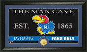 NCAA Kansas Jayhawks Man Cave Coin Panoramic Photo Mint, 60cm x 38cm x 10cm , Bronze