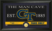 NCAA Georgia Tech Man Cave Coin Panoramic Photo Mint, 60cm x 38cm x 10cm , Bronze