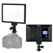 VILTROX L116T RA CRI95 Super Slim LED Light Panel , Camera LED Video Light , LCD Display Screen, with Hot Shoe Ball Mount,Adjusted Colour Temperature and Brightness 3300K-5600K