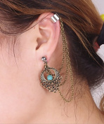 Aukmla Earrings Hoop Cartilage Eardrop Gypsy Bohemian Ethnic Style Tribal Hot Earrings for Women