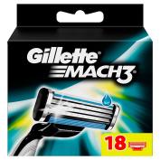 Gillette Mach3 Razor Blades for Men, 18-Piece