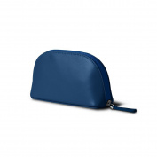 Lucrin - Makeup Bag (16 x 8.5 x 5.5 cm) - Royal Blue - Smooth Leather