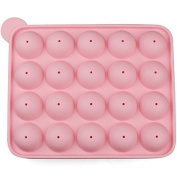 Yeah67886 Lollipop Mould Silicone with Sticks 20 Cavity
