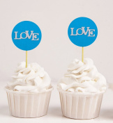 Darling Souvenir, Love Wedding Cupcake Toppers, Party Dessert Decorations - Pack Of 20