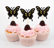 Darling Souvenir, Butterfly Cupcake Toppers, Birthday Wedding Party Dessert Decorations - Pack Of 20