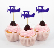 Darling Souvenir, Plane Shape Cupcake Toppers, Birthday Wedding Party Dessert Decorations - Pack Of 20