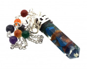 Orgone Gemstone Pendulum with Chakra Chain