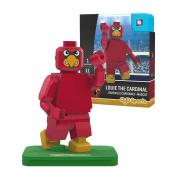 NCAA Louisville Cardinals Cardinal Bird Mascot Gen 2 Mini Figure, Small, Black