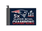 NFL New England Patriots Super Bowl 51 5x Champions Antenna Flag