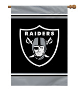 NFL Oakland Raiders 1 Sided House Banner, 70cm x 100cm /One Size, Team Colour