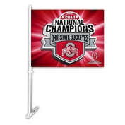 Ohio State Buckeyes Car Flag 2014 Champs