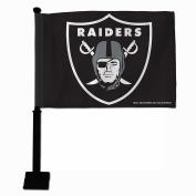 NFL Oakland Raiders Car Flag, Black Pole