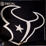 Houston Texans Large 30cm Silver Metallic Vinyl Auto Decal NFL Football