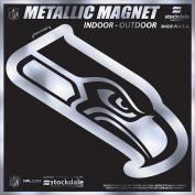 Seattle Seahawks 15cm MAGNET Silver Metallic Style Vinyl Auto Home Football
