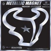 Houston Texans 15cm MAGNET Silver Metallic Style Vinyl Auto Home Football