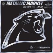 Carolina Panthers 15cm MAGNET Silver Metallic Style Vinyl Auto Home Football