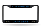 Los Angeles Chargers NEW LOGO BLACK LBL Frame Metal Chrome Licence Plate Tag Cover Football