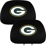 Green Bay Packers NFL Football Car Headrest Seat Cover - One Pair