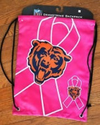 NFL Chicago Bears Breast Cancer Foundation 2013 Drawstring Backpack, One Size, Blue