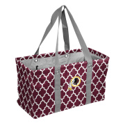 NFL Washington Redskins Picnic Caddy Quatrefoil Caddy Tote, One Size, Maroon