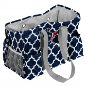 NFL Houston Texans Quatrefoil Junior Caddy, One Size, Navy