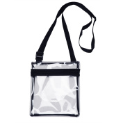 Small Clear Cross-Body Messenger Shoulder Bag Long Strap - NFL Stadium Approved Clear Purse