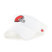 NFL Cleveland Browns Clean Up Adjustable Visor, One Size, White