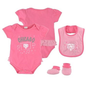 Chicago Bears Pink Newborn Creeper, Bib and Bootie Set by Adidas