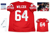 Autographed Dave Wilcox Jersey - Custom Photo - PSA/DNA Certified - Autographed NFL Jerseys
