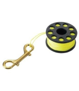 IST 30m Finger Reel with Yellow Line & Brass Snap Clip