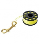 IST 50m Finger Reel with Yellow Line & Brass Snap Clip