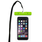WindTeco Universal Waterproof Case IPX8 Touch Responsive Transparent Windows Pouch Dry Bag for iPhone, Samsung, Huawei, SONY Smartphone Boating/Swimming/Diving/Snorkelling