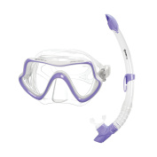 Mares Mask Plus Snorkel Pure Vision Diving Kit-Transparent/CL, Sfrblcl