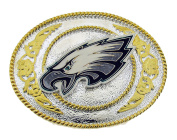 Philadelphia Eagles - Gold and Silver Toned NFL Logo Buckle