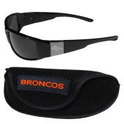 NFL Denver Broncos Chrome Wrap Sunglasses & Sports Case