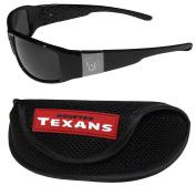 NFL Houston Texans Chrome Wrap Sunglasses & Sports Case