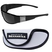 NFL Seattle Seahawks Chrome Wrap Sunglasses & Sports Case