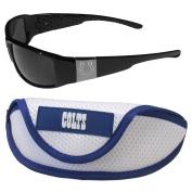 NFL Indianapolis Colts Chrome Wrap Sunglasses & Sports Case