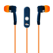 NFL Denver Broncos Hands Free Ear Buds with Microphone