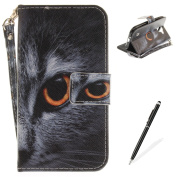 LG K3 2017 Case,MAGQI LG K3 2017 Leather Case,Wild Animals Series Pattern Premium Slim Fit Flip PU Wallet Cover with Colourful Detachable Hand Strap [Stand Function][Cash and Card Slots] Magnetic Folio Notebook style Skin Cover Full Body Protection for ..