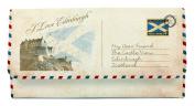 Scottish I Love Edinburgh Saltire Flag Postcard Tri Fold Purse